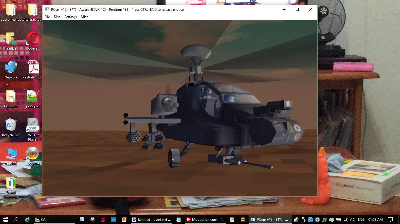 Running Tornado under PCem (PC Emulator) - the best experience yet!