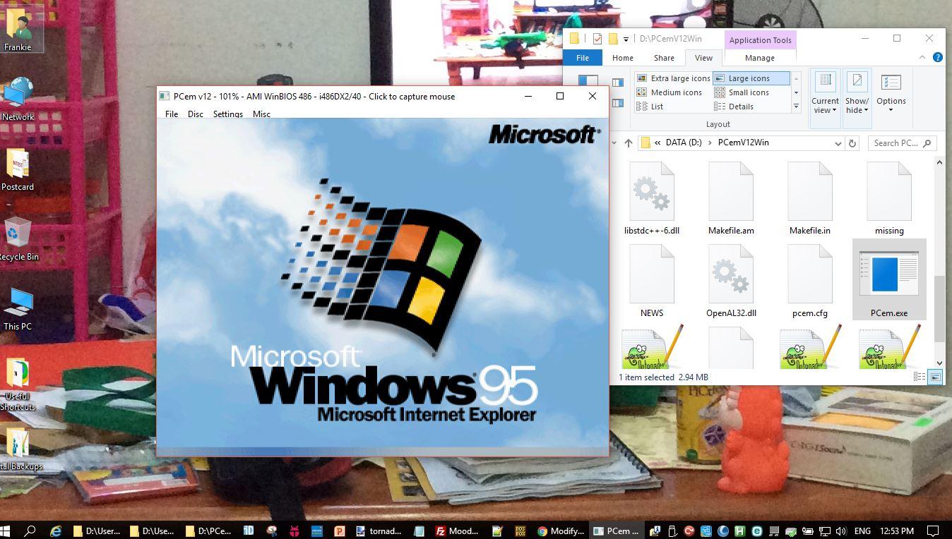 Running Tornado under PCem (PC Emulator) - the best